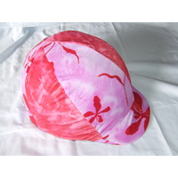 Ecotak Lycra Helmet Cover - pink and flowers