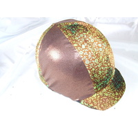 Ecotak Lycra Helmet Cover - copper flowers