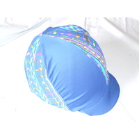 Ecotak Lycra Helmet Cover - Royal Blue patterned