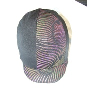 Ecotak Lycra Helmet Cover - Black and metallic tiger print
