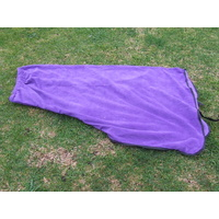 Ecotak Pull on Polar Fleece Horse Neck Rug - Purple with black trim Cob