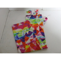 Ecotak Lycra Rugless Tail Bag - Bright Abstract - Small Pony