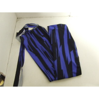 Ecotak Lycra Rugless Tail Bag - Black/blue pattern - shetland