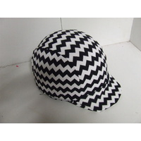 Ecotak Lycra Helmet Cover - black white chevron pattern
