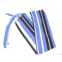 Ecotak Lycra Rugless Tail Bag - Black, blue & white stripe shetland
