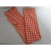 Ecotak Lycra Rugless Tail Bag - orange check mini