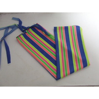Ecotak Lycra Rugless Tail Bag - bright stripe small pony