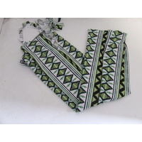 Ecotak Lycra Rugless Tail Bag - green aztec - large pony