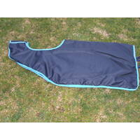 Ecotak Removable Waterproof Quarter/Exercise Sheet Navy/Aqua Large