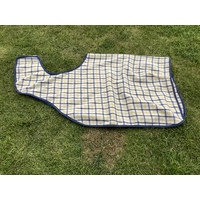 Ecotak Wool Cutaway Removable Quarter Sheet/exercise rug - yellow collar check