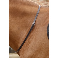 Premier Equine Altino Leather Neck Strap - Dark Brown