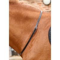 Premier Equine Altino Leather Neck Strap - Black
