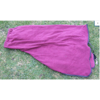 Ecotak Pull on Polar Fleece Horse Neck Rug - Burgungy with black trim cob.