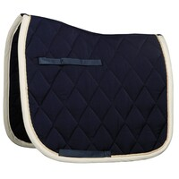 Harry's Horse Next Full Size Dressage Saddle Pad - navy/cream
