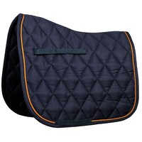 Harry's Horse Next Full Size Dressage Saddle Pad - navy/orange