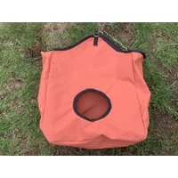 Ecotak canvas Hay Bag - burnt orange with black trim