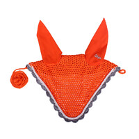 QHP colour ear bonnet - Orange Full