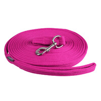 QHP Lunge Line Rein in Bag - Fuchsia Pink