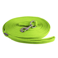 QHP Lunge Line Rein in Bag - Lime green