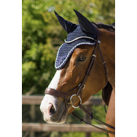 QHP ear net bonnet sparkle - black full