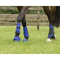 QHP set 4 Eventing technical cross country boots - Large Cobalt Blue
