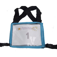 Ecotak Cross Country/Endurance Back Number Holder  2 tone - Black/aqua