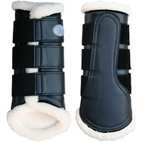 Flextrainer Horse Protection Boots with Fleece Lining. Black