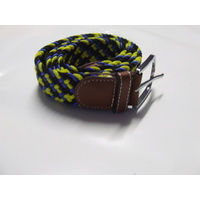 Ecotak stretchy webbing belt - blue & yellow