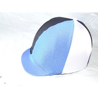Ecotak lycra helmet cover - cross country colours, Custom 6 panel helmet cover.