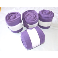 Purple Polar Fleece Bandages - Set of 4 in carry Bag