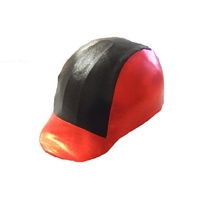Ecotak lycra helmet cover - Red & black shimmer