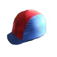 Ecotak lycra helmet cover - Red & navy blue shimmer