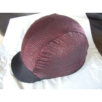 Ecotak lycra helmet cover - black metallic red stripes