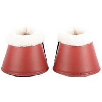 Jester Red Leather Over-reach Bell boots with Fleece Small
