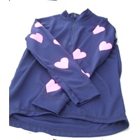 Equetech Cross Country Colours childrens Navy blue with pink hearts medium