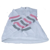 Equetech Cross Country Colours Ladies White with grey & pink stripes XS
