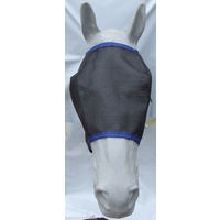Ecotak Fly Mask Black mesh with royal blue trim