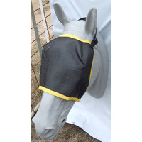 Ecotak Fly Mask Black mesh with yellow trim