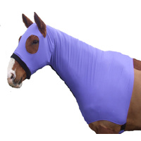 Ecotak lycra skinny hood with bib. Purple