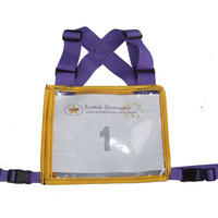 Ecotak Cross Country/Endurance Back Number Holder  2 tone - Purple/Yellow