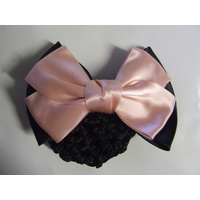 Ecotak Hair Clip with Net - black & peach bow