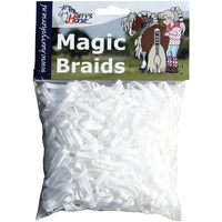 Harry's Horse Magic Braids Plaiting Elastic Bands - White REUSABLE