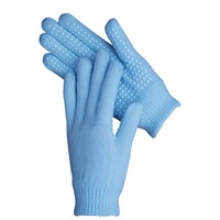 Harry's Horse Knitted Magic Gloves Light Blue Large