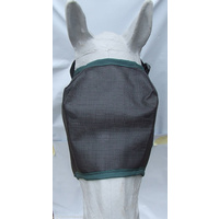 Ecotak Fly Mask/Veil Black with Bottle Green Trim