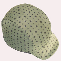 Ecotak olive green with black stars lycra helmet cover