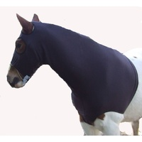 Ecotak Brown polar fleece horse hood with bib