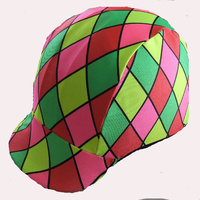 Ecotak bright diamonds lycra helmet cover