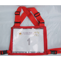Ecotak Cross Country/Endurance Back Number Holder - Red