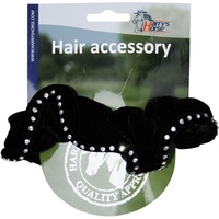 Harry's Horse Black Suede Hair Elastic with crystals
