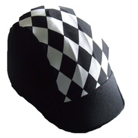 Ecotak lycra helmet cover - black with white diamonds